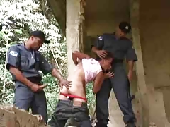 twink has fun with 2 policemen